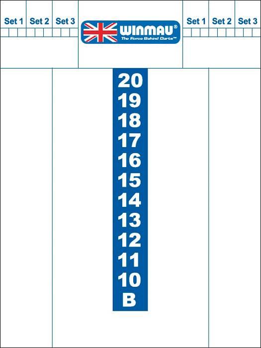 Afbeelding van WINMAU Whiteboard scoreb.Winmau 40x30