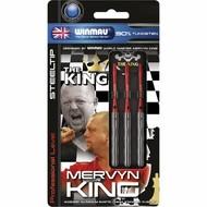 WINMAU Winmau Mervyn King steeltip dartpijlen zilver 22gr