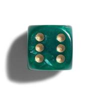 PHILOS Philos parelmoer groen dobbelstenen 12mm 36st.