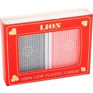 LION-GAMES Speelkaartenset LION 100% plastic duobox, Poker