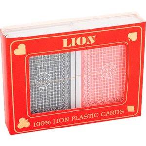 Speelkaartenset LION 100% plastic duobox, Poker