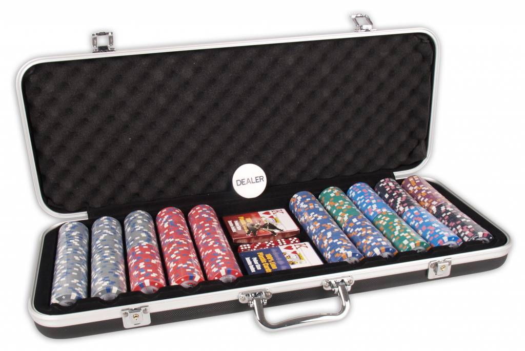 Afbeelding van BUFFALO Pokerset DLX 500 Clay Chips 13.5gr Valuie