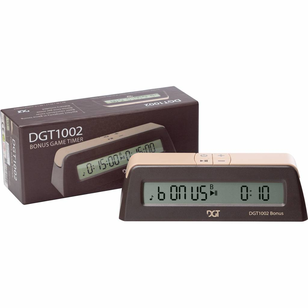 Afbeelding van DGT DGT 1002 digitale schaakklok bonus timer