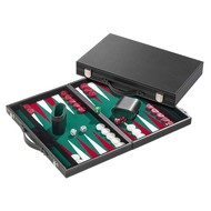 PHILOS Philos Backgammon groen medium 38x23,5x5,5cm