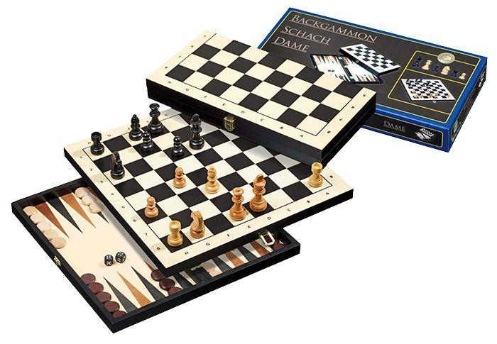 Afbeelding van PHILOS Philos Backgammon 3 in 1 reis set 30mm
