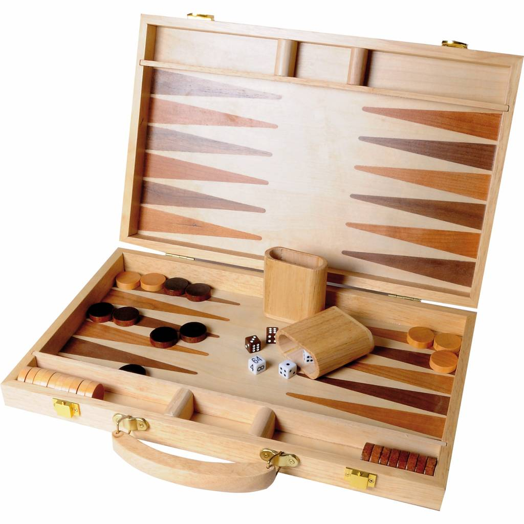 Afbeelding van BUFFALO Buffalo backgammon ingelegd hout 38,1 cm