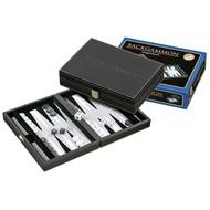 PHILOS Philos Backgammon Tinos klein grijs 23 x 16,5cm
