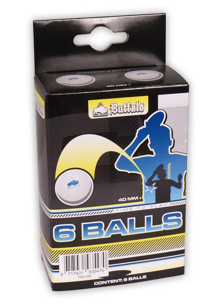 Afbeelding van BUFFALO Tafeltennisballen Buffalo 3* Competitie 6st.
