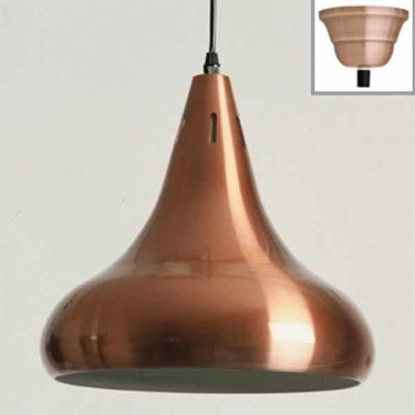 Afbeelding van lamp klassiek rood-koper (Uitvoering: hoogglans)