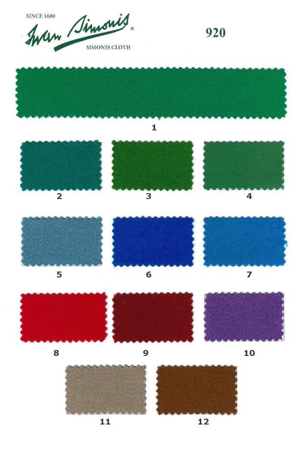 Afbeelding van Biljartlaken Poolbiljart laken Simonis 920 diverse kleuren. per 10 cm 165 cm breed