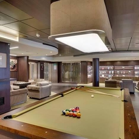 Biljarten op een cruise schip