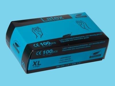 Comfort  blå latexhandske