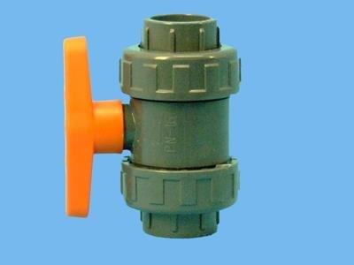 PVC-kugleventil 32 mm lim