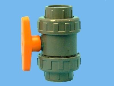 PVC-kugleventil 40 mm - lim