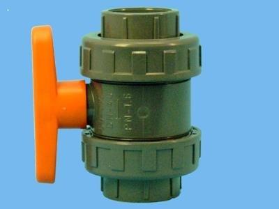 PVC-kugleventil 50 mm lim