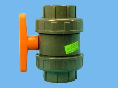 PVC-kugleventil 63 mm lim