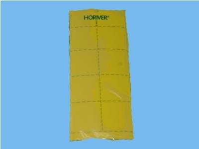 Klæbeplader - gul [10 x 25 cm] 10 stk. (ekstra lim)