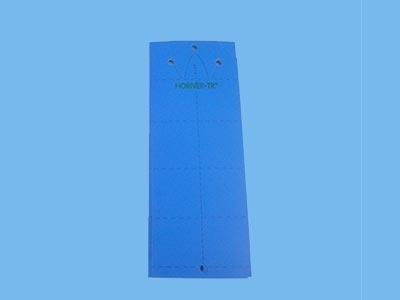 Signalplade - blå [10 x 25 cm] 10 stk. (ekstra lim)
