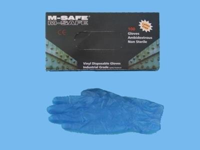 M S-safe vinylhandske blå kat. 1