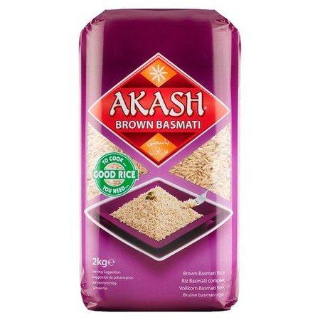 Akash Akash Bruine basmati rijst 2KG