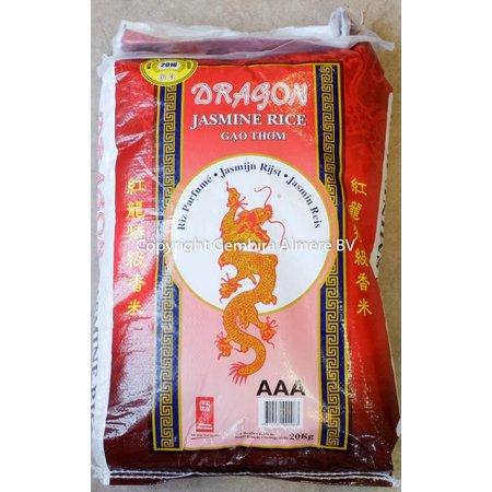 Dragon Dragon Jasmine rice 20 kg  long grain