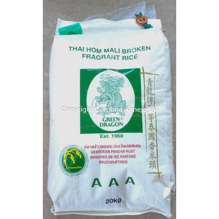 Green Dragon Thai Hom Mali Broken Fragrant rice 20 kg