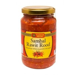Flower Brand Sambal Rawit Rood 375g