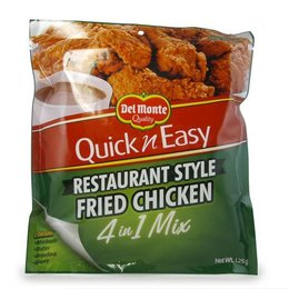 Del Monte Restaurant Style Fried Chicken 4 in 1 Mix 125g