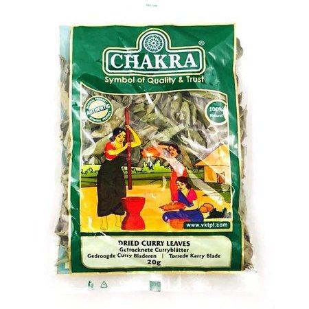Chakra Gedroogde Curry Bladeren 20 G
