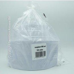 Soepkom 600ml plastic 100 stuks