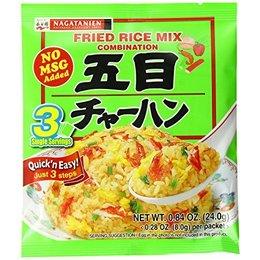 Nagatanien Garnalen en groente Gebakken rijstkruiden, 24 g, 3 zakjes