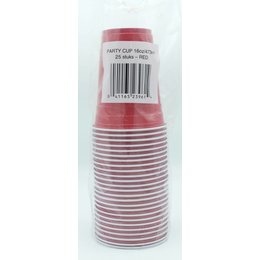 Rood Party Cups 25 stuks - 473ml (Plastic)