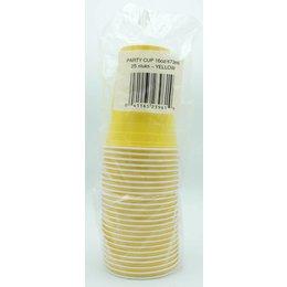 Geel Party Cup 25 stuks 473ml (Plastic)