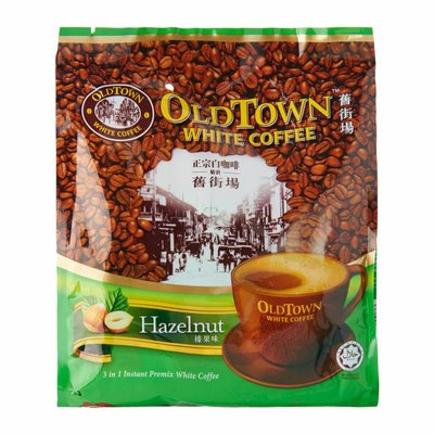 SUPER Charcoal Roasted White Coffee 3 in 1 CLASSIC 600 Gr. Source · OldTown Hazelnut