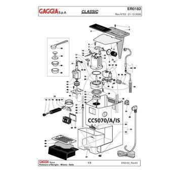 RVS body/chassis Gaggia Classic
