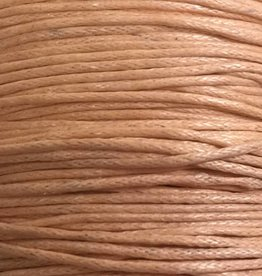 gewachste Baumwollkordel 1mm, Farbe 38 apricot powder