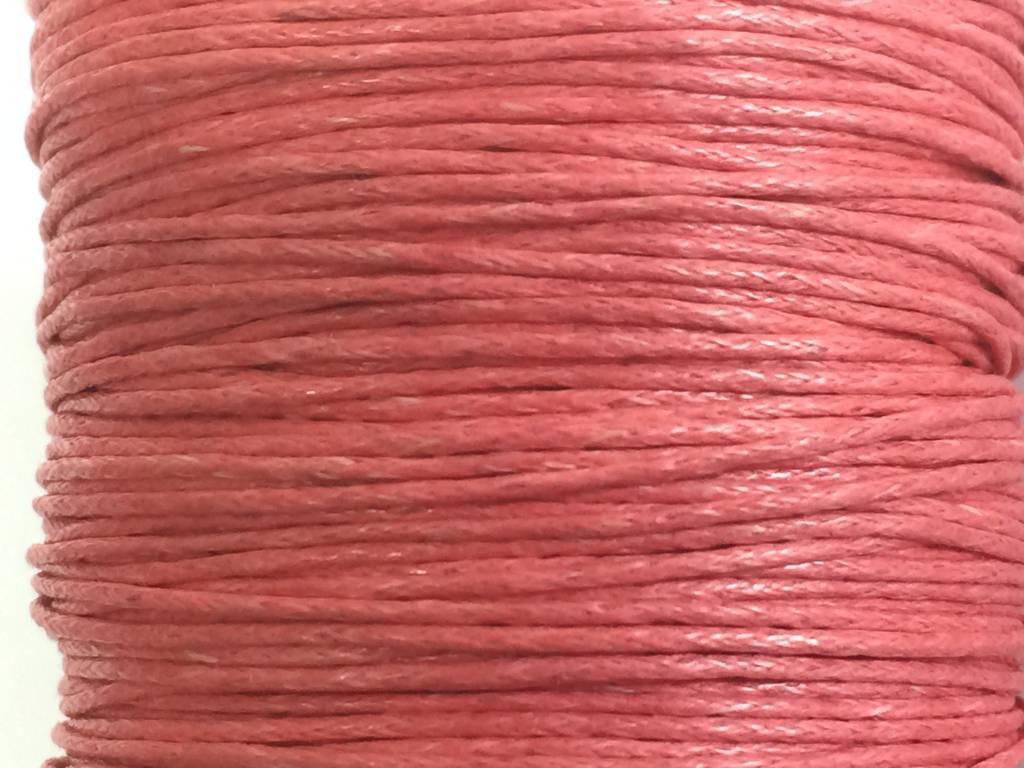 gewachste Baumwollkordel 1mm, Farbe 40 peachy