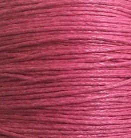 gewachste Baumwollkordel 1mm, Farbe 35 dark pink