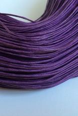 gewachste Baumwollkordel 1mm, Farbe 31 violett