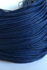 gewachste Baumwollkordel 1mm, Farbe 28 dunkelblau