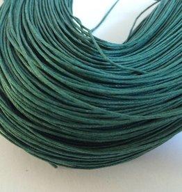 gewachste Baumwollkordel 1mm, Farbe 20 smaragd