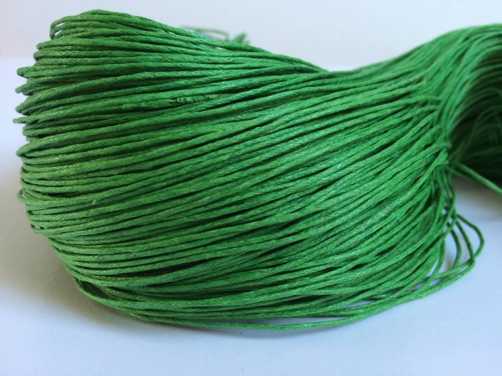 gewachste Baumwollkordel 1mm, Farbe 18 grün