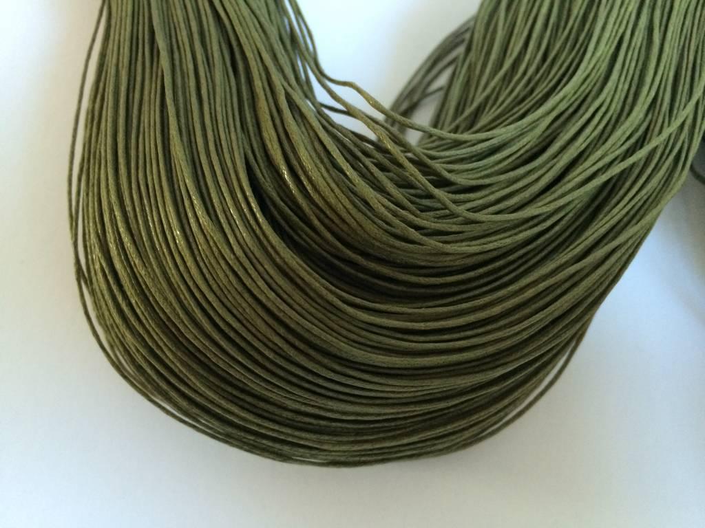 gewachste Baumwollkordel 1mm, Farbe 16 oliv
