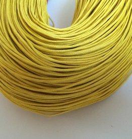 gewachste Baumwollkordel 1mm, Farbe 13 gelb