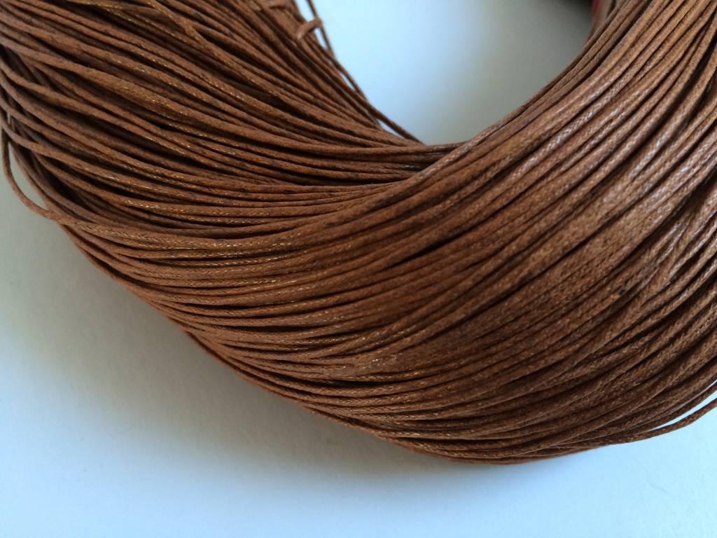 gewachste Baumwollkordel 1mm, Farbe 09 haselnuss
