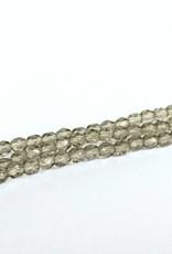 Glasschliffperlen feuerpoliert 4mm, Farbe 07 Black Diamond light