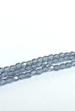 Glasschliffperlen feuerpoliert 4mm, Farbe 21 Montana light