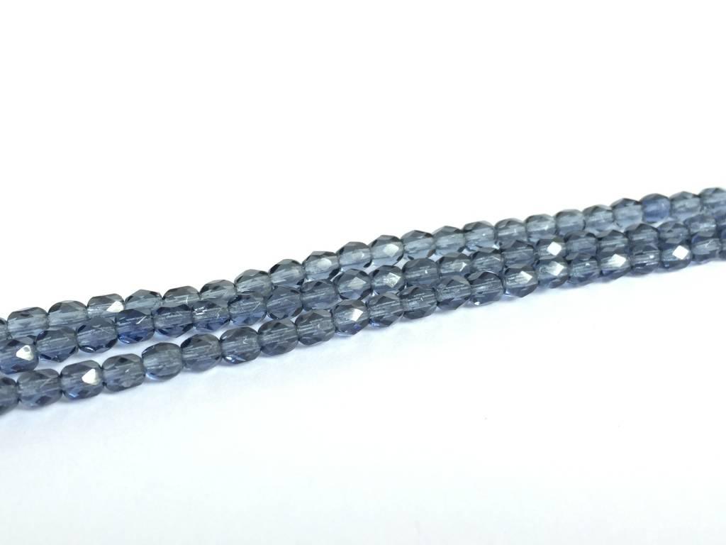 Glasschliffperlen feuerpoliert 4mm, Farbe 22 Montana