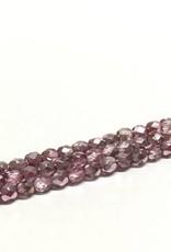 Glasschliffperlen feuerpoliert 4mm, Farbe 99 Rosy Ice