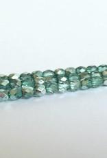 Glasschliffperlen feuerpoliert 4mm, Farbe 49 Turquoise Ice